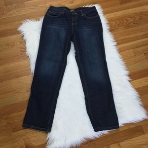 J.Jill Dark Wash Straight Leg Jeans.